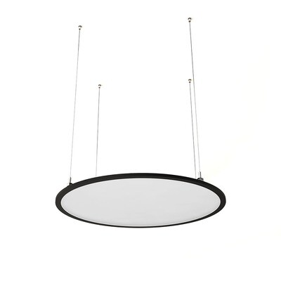 ProLuce® LED Panel TONDO/C Ø704 mm, horiz., 48W, 5280 lm, 3000K, DALI, 100°, schwarz