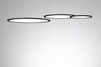 ProLuce® LED Panel TONDO/C Ø900 mm, horiz., 72W, 7920 lm, 2700K, 0-10V,  100°, schwarz