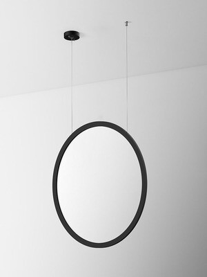 ProLuce® LED Panel TONDO/C Ø704 mm, vert., 48W, 5280 lm, 3000K, 100°, schwarz