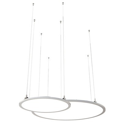 ProLuce® LED Panel TONDO/C Ø507 mm, horiz., 36W, 3960 lm, 2700K, DALI, 100°, silber