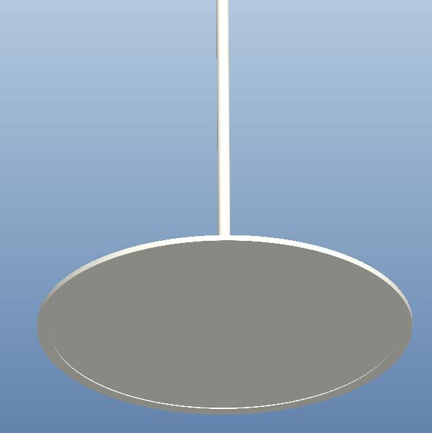 ProLuce® TONDO Rohrpendel für Leuchten mit Ø 600 - 1000 mm, weiss (benötigt Deckenkit)