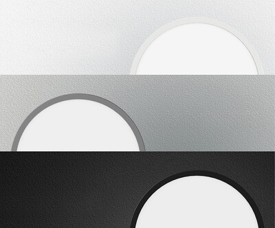 ProLuce® LED Panel TONDO 9090, Ø900 mm, 90W, 9900 lm, 2700K, CRI >90, 100°, silber