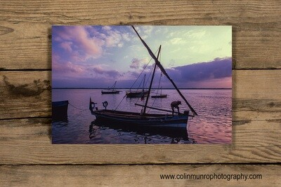 Dhow at sunrise 16 x 24 giclee print