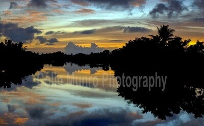 Pacific Harbour Lagoon at Dawn, Fiji. 16 x 24 giclee print