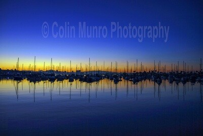San Diego Bay at dawn 16 x 24 Canvas wrap