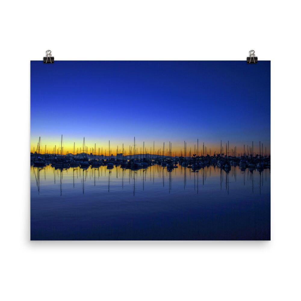 San Diego Bay at dawn Poster
