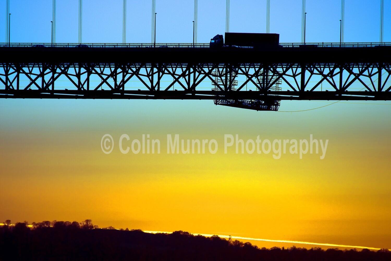 Sunset Forth Road Bridge. 16 x 24 Canvas wrap