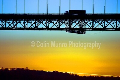 Sunset Forth Road Bridge. 16 x 24 Canvas wrap
