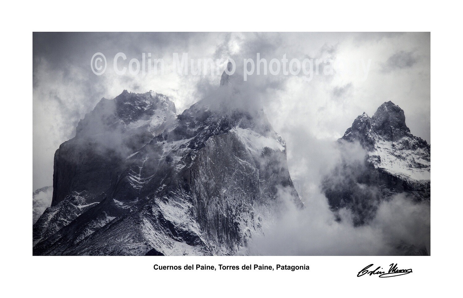 Torres del Paine signed giclee print