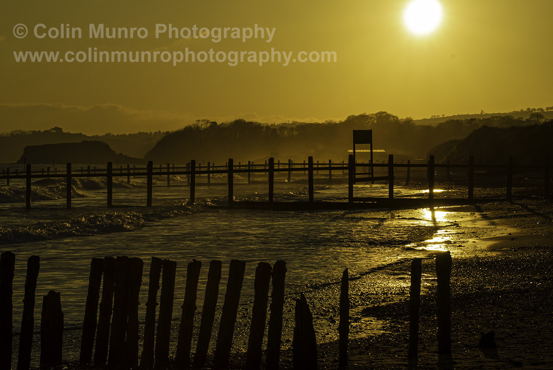 Dawlish Warren beach, winter sun. 16 x 24 giclee print