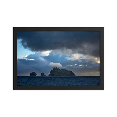 Early morning arrival arrival at St Kilda. Framed poster.