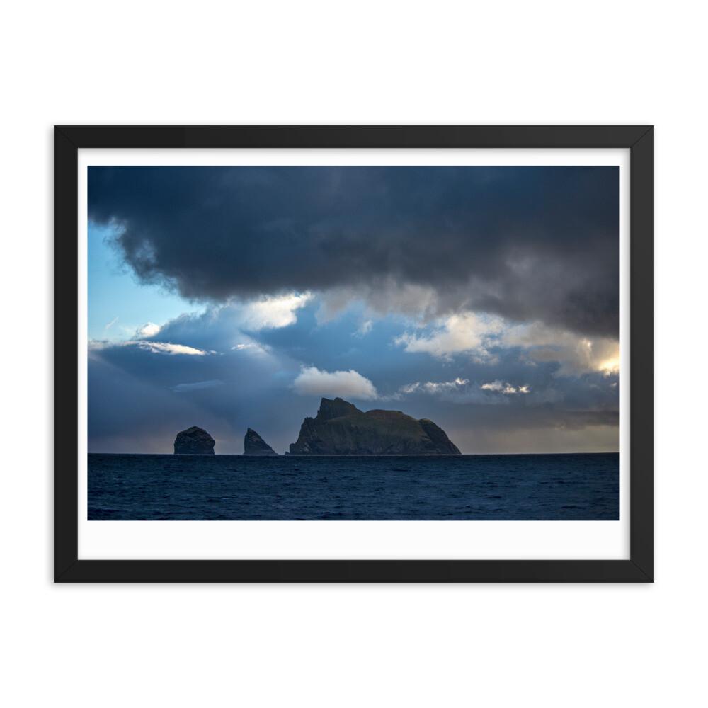 Framed poster St Kilda (white border)