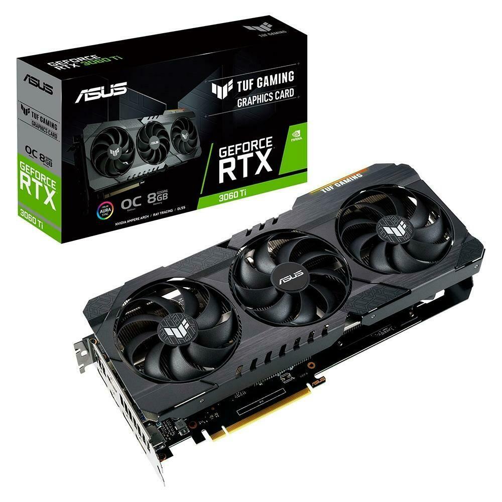 Placa de Vídeo Asus TUF NVIDIA GeForce RTX 3060 TI, 8GB, GDDR6 - TUF-RTX3060TI-O8G-GAMING