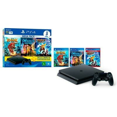 Console Sony PlayStation 4 Mega Pack Family, 1TB, Knack 2 + Concrete Genie + Ratchet & Clank