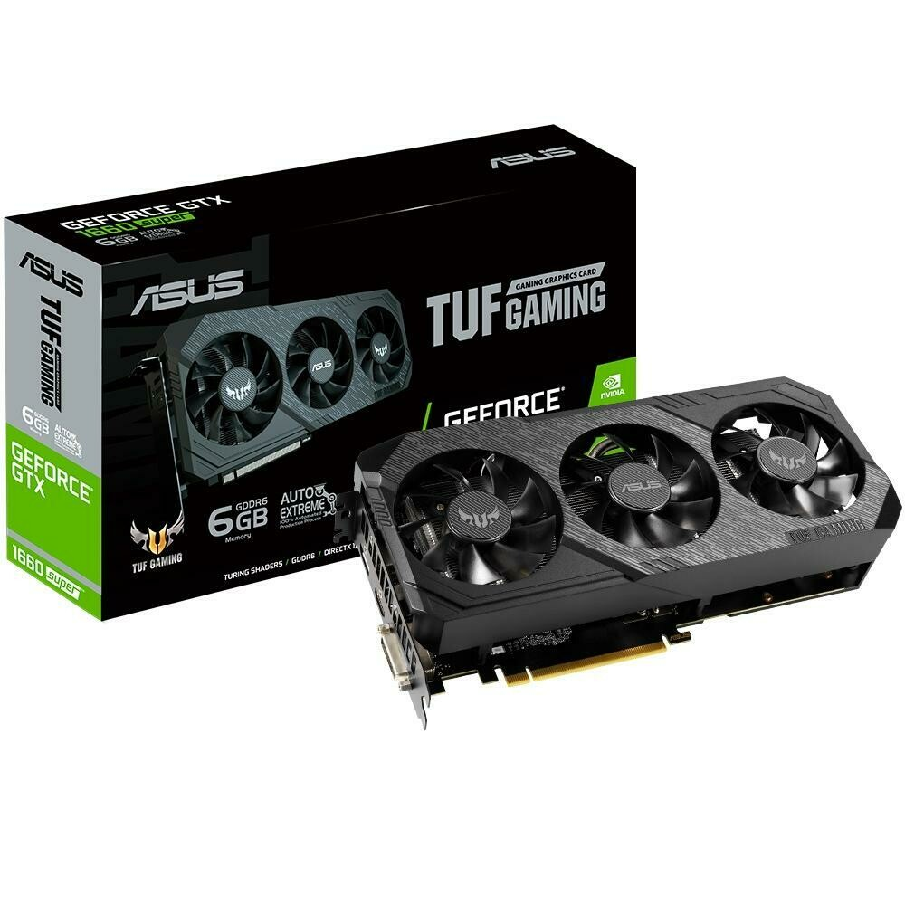 Placa de Vídeo Asus TUF3 NVIDIA GeForce GTX 1660 SUPER, 14.0 Gbps, 6GB, GDDR6, Turing Shaders - TUF 3-GTX1660S-O6G-GAMING
