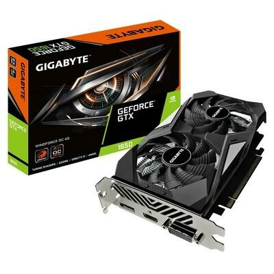 Placa de Vídeo Gigabyte NVIDIA GeForce GTX 1650 D6 WINDFORCE OC, 4G, GDDR6, Rev. 2.0