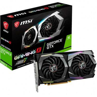 Placa de Vídeo MSI NVIDIA GeForce GTX 1660 Ti Gaming X 6G, GDDR6