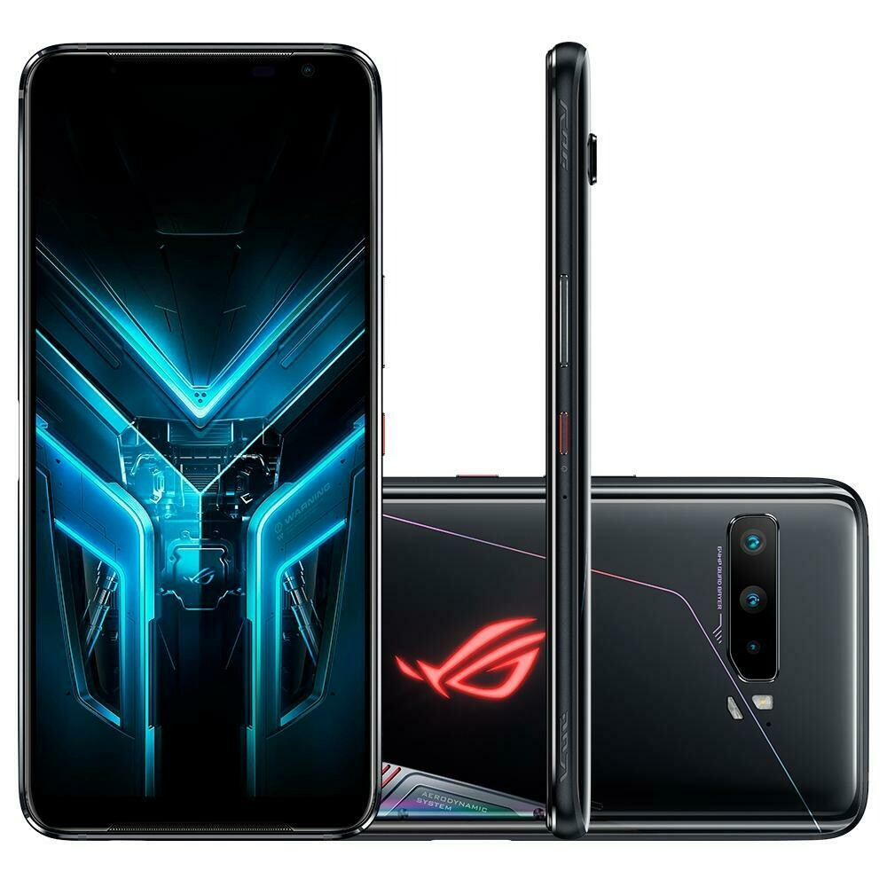 Smartphone Asus Gamer ROG Phone 3, 128GB, 64MP, Tela 6.59´, Preto
