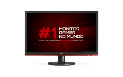 "Monitor Gamer AOC Speed G2260VWQ6 21,5"" LED - Widescreen Full HD HDMI VGA 83Hz 1ms"