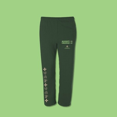 Accept Change Sweatpants - Forest Green