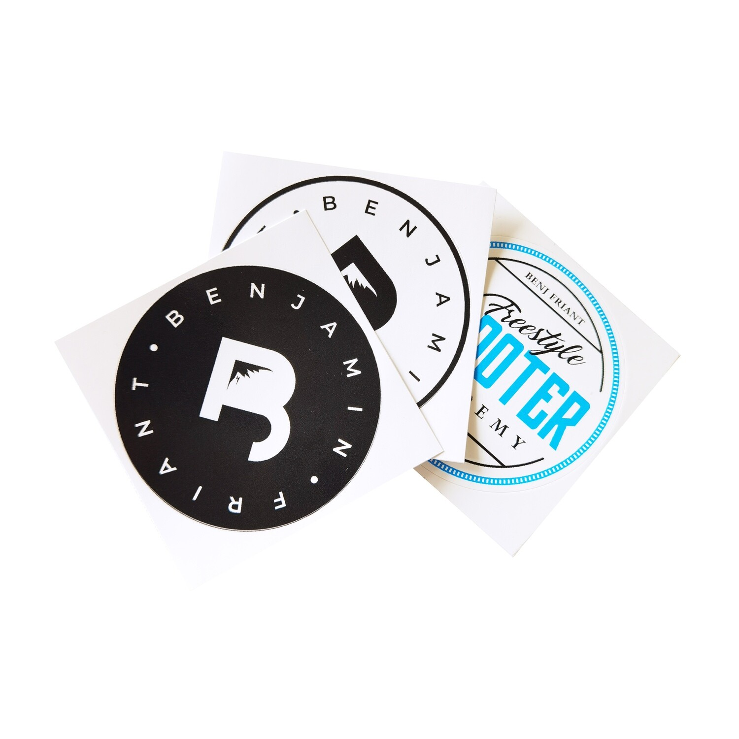 Lot 3 stickers BenJ Friant + Freestyle Scooter Academy