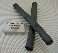 Jumbo Willow Charcoal Stick with Kneaded Eraser