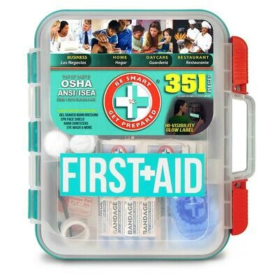 BE SMART GET PREPARED First-Aid Kit (351 pc.)