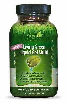 IRWIN NATURALS Women's Living Green Liquid Gel Multi Vitamin (liquid soft gel pills 90)