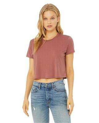 Women's Flowy Cropped T-Shirt
