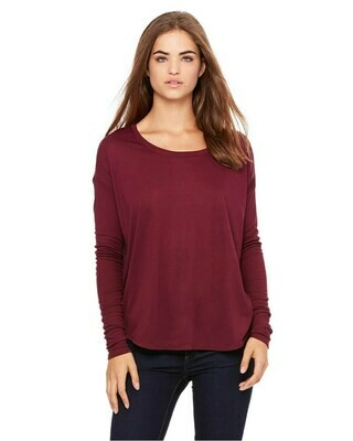Women's Flowy Long Sleeve T-Shirt with 2x1 Sleeves