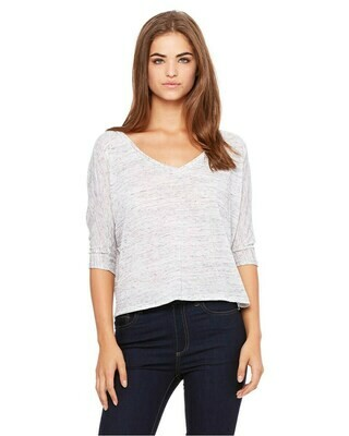 Women's Flowy V-Neck Half Sleeve T-Shirt