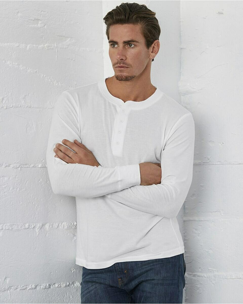 Men's Soft Four Button Long-Sleeve Henley Shirt