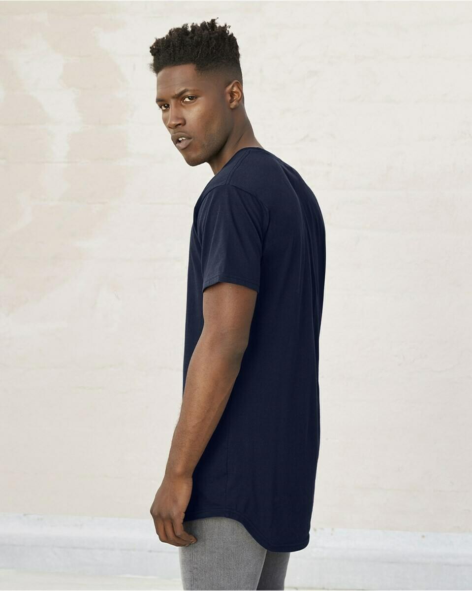 Men's Slightly Fitted Long Body Urban T-Shirt