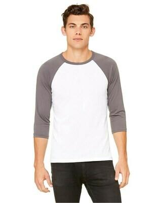 Men's Lightweight Slightly Fitted Soft 3/4 Sleeve Raglan T-Shirt