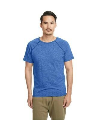 Men's Lightweight Fitted Mock Twist Short-Sleeve Raglan T-Shirt