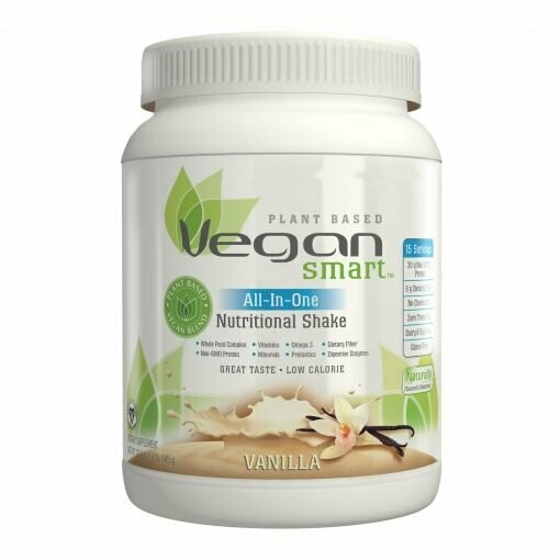 NATURADE Vegan Smart All-In-One Nutritional Shake Plant Based Protein Powder Vegan Blend (calories 170, sugars 6g, protein 20g, vitamin d 15mcg, iron 9mg, iodine 75mcg, prebiotics 150mg)