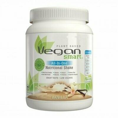 NATURADE Vegan Smart All-In-One Nutritional Shake Plant Based Protein Powder Vegan Blend (calories 170, sugars 6g, protein 20g, vitamin d 15mcg, iron 9mg, iodine 75mcg, prebiotics 150mg)