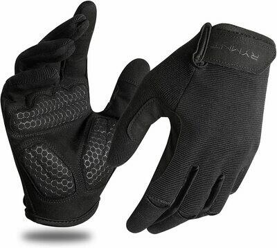 Men's Workout Gloves (full finger gloves / palm grip / washable)