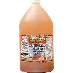 DYNAMIC HEALTH Apple Cider Vinegar (with mother, organic raw, 1 gallon)