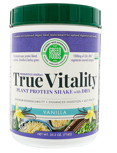 GREEN FOODS True Vitality Plant Protein Powder (with dha and with iodine 45mcg)