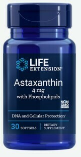 Astaxanthin 4mg w/Phospholipids (30 softgels)