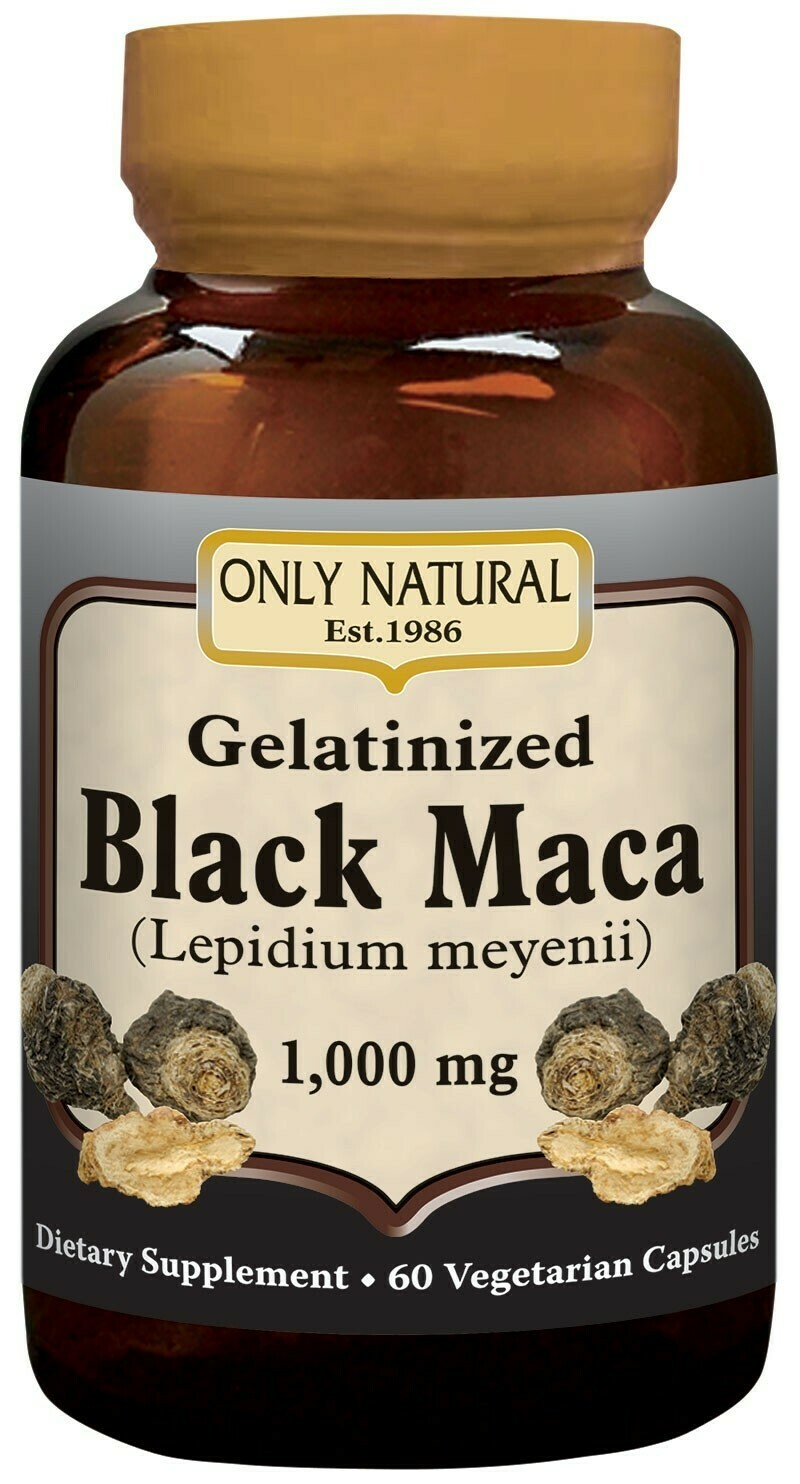 Gelatinized Black Maca 1000 mg 60 (veg. caps)