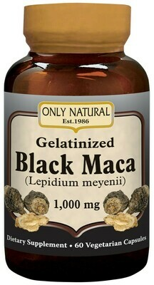Gelatinized Black Maca 1000 mg 60 (veg. caps)