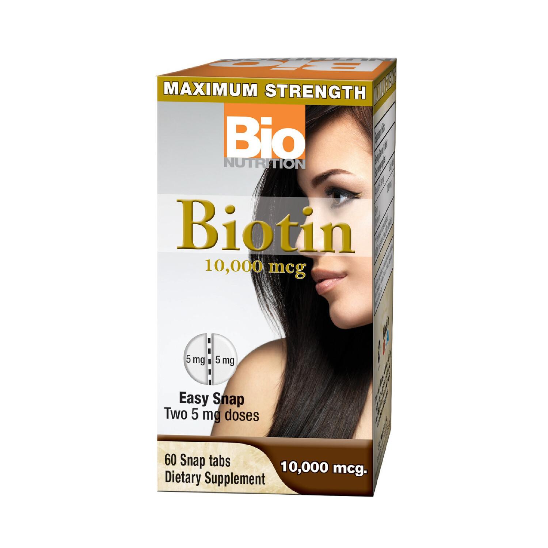 Biotin 10,000mcg  (60 easy snap tabs)