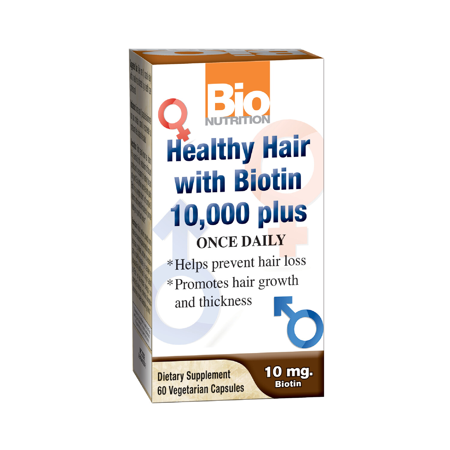 Healthy Hair w/Biotin 10,000 plus (60 veg. caps)