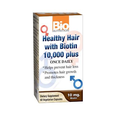 Healthy Hair w/Biotin 10,000 plus (60 veg. caps)