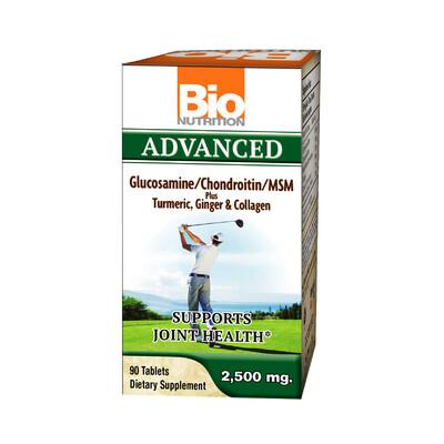 Adv. Glucosamine/Chondroitin/MSM + Turmeric, Ginger & Collagen (90 tabs)