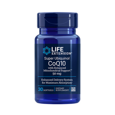Super Ubiquinol CoQ10 with Enhanced Mitochondrial Support™ 50mg (30 y 100 softgels)