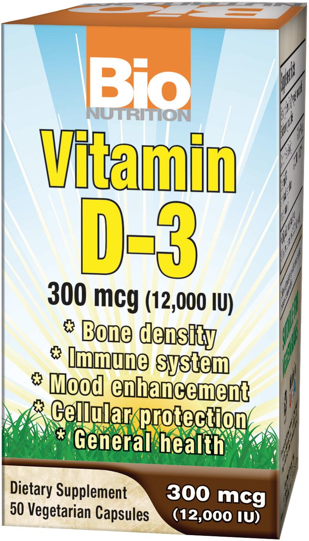 Vitamin D3 12000 (50 veg. caps)