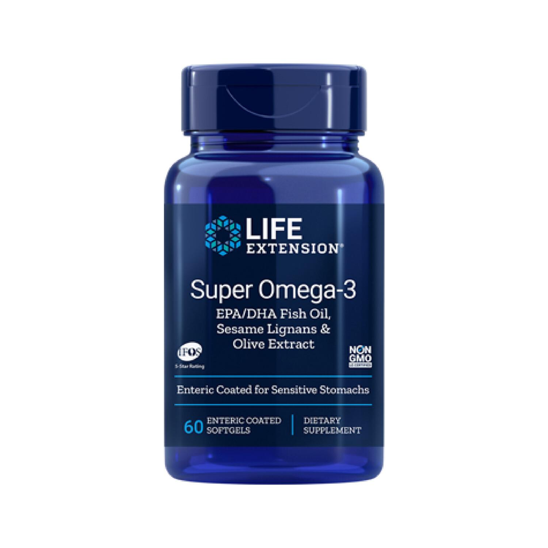 Super Omega-3 w/Sesame Lignans & Olive Extract (60, 120 softgels y enterico)